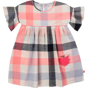 Billieblush Flouncy Sleeve Checkered Dress