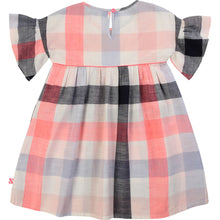 Load image into Gallery viewer, Billieblush Flouncy Sleeve Checkered Dress