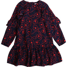 Load image into Gallery viewer, Billieblush Long Sleeve Heart Print Dress size 2 and 8