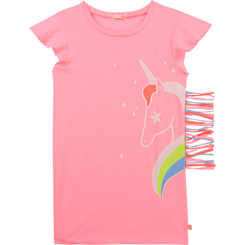 Billieblush  Jersey Dress with Unicorn Graphic