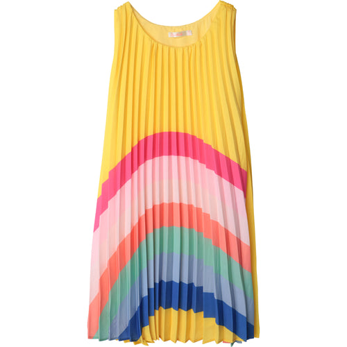 Billieblush Pleated Dress with Rainbow Graphic