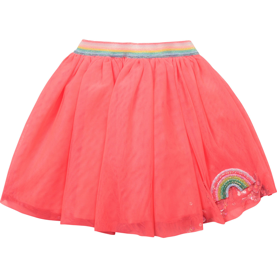 Billieblush Rainbow Patch Tulle skirt