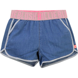 Billieblush Denim logo short