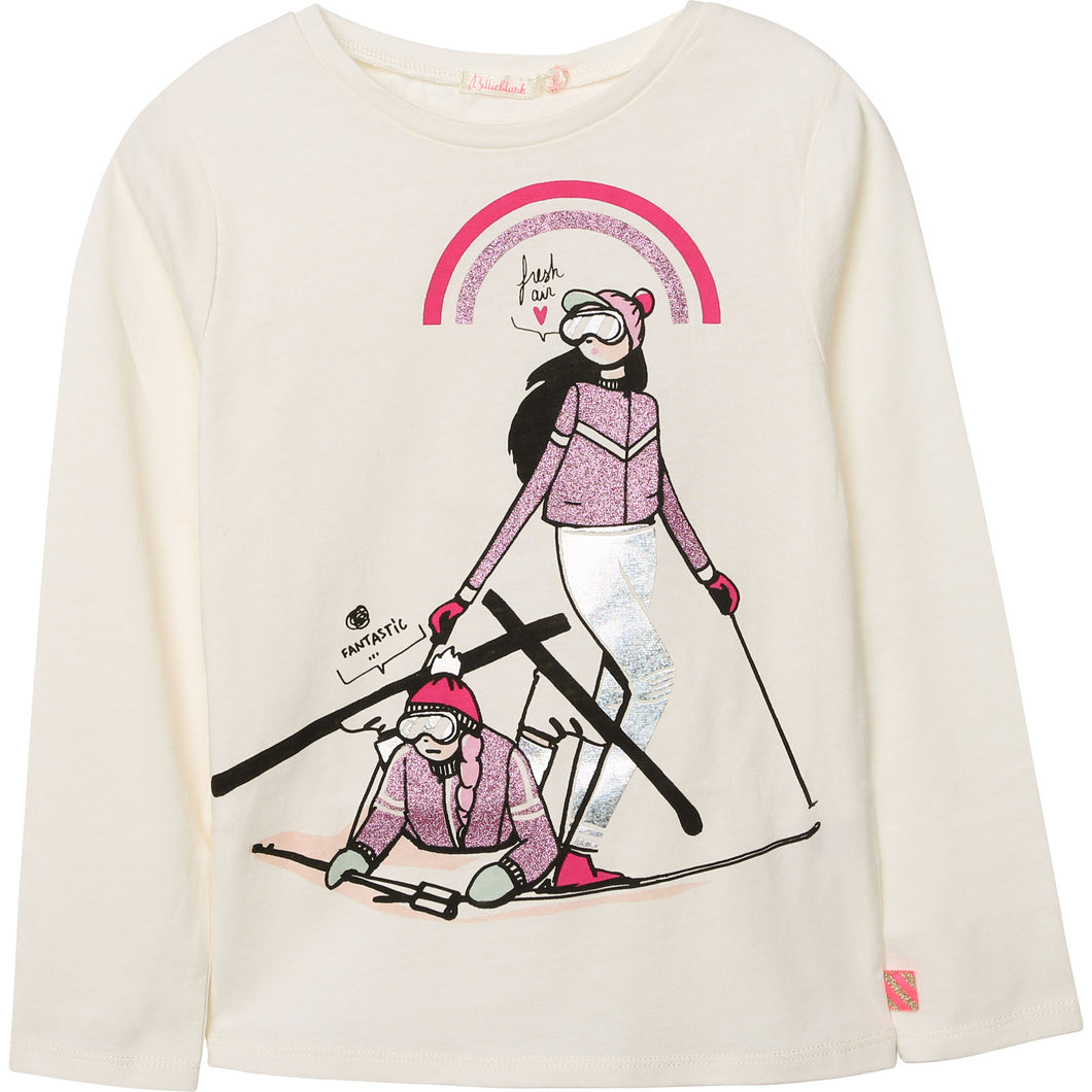 Billieblush Long Sleeve Ski Girls Tee