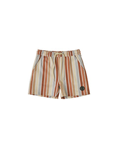 Rylee + Cru Striped Long Swim Trunks