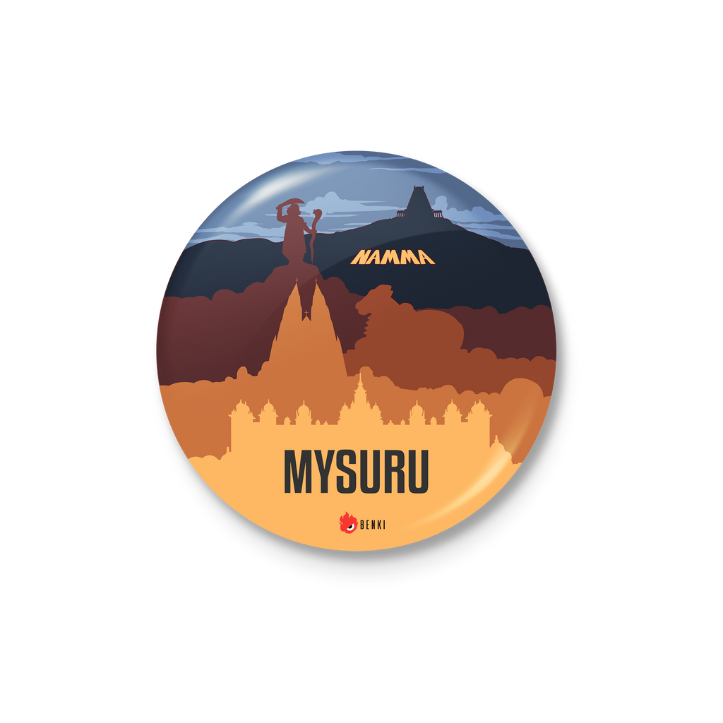 Mysuru Heritage Badge | Nammooru Series Badge - Benki Store