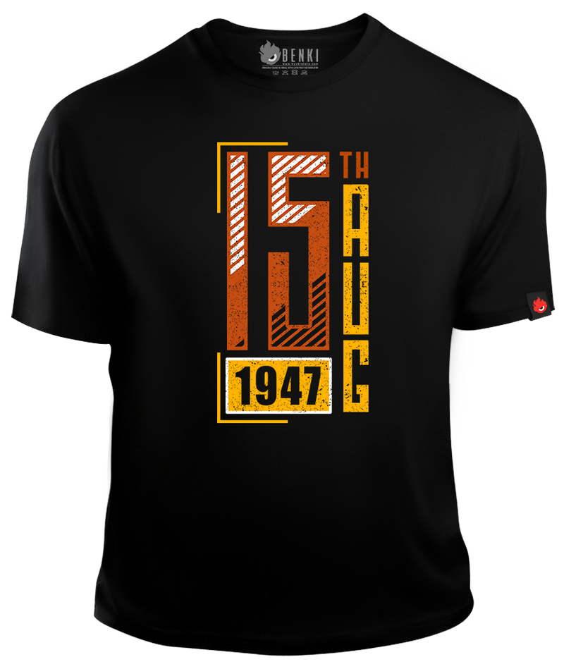 15th August 1947 TShirt | Independent India TShirt | Indian TShirt