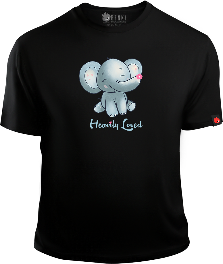 Heavily Loved TShirt | Baby Elephant TShirt | Animal Series - Benki Store