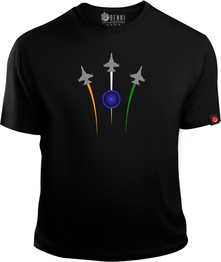 India Fighter Jet TShirt | Tricolour TShirt | Indian TShirt