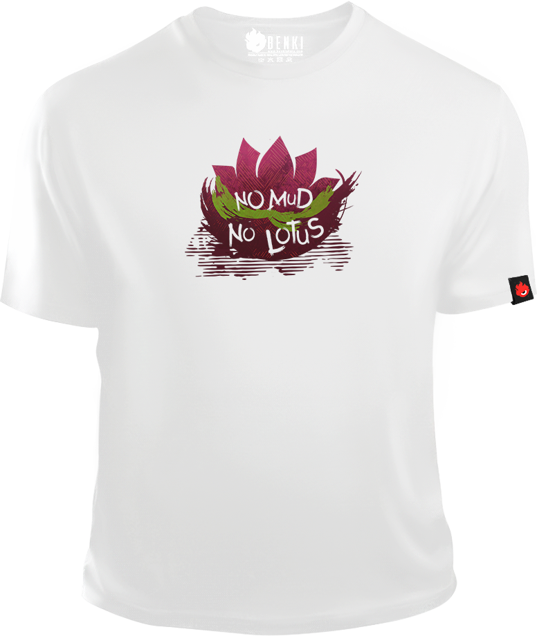 Lotus TShirt | No Mud No Lotus TShirt | Yoga Wellness Series - Benki Store