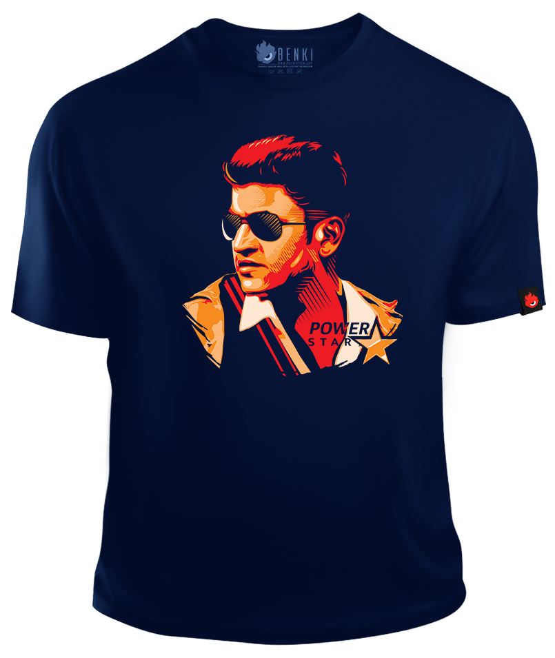 Puneeth Rajkumar TShirt | Power Star TShirt | Superstar Series - Benki Store