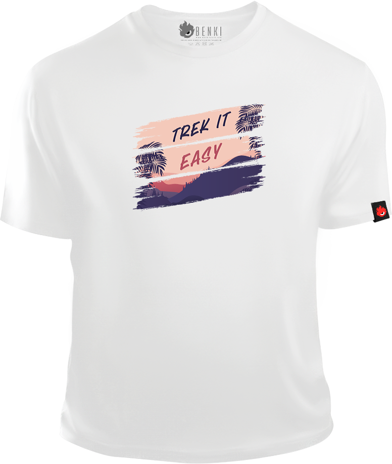 Trek It Easy TShirt | Mountain Trekking TShirt | Nature Series - Benki Store