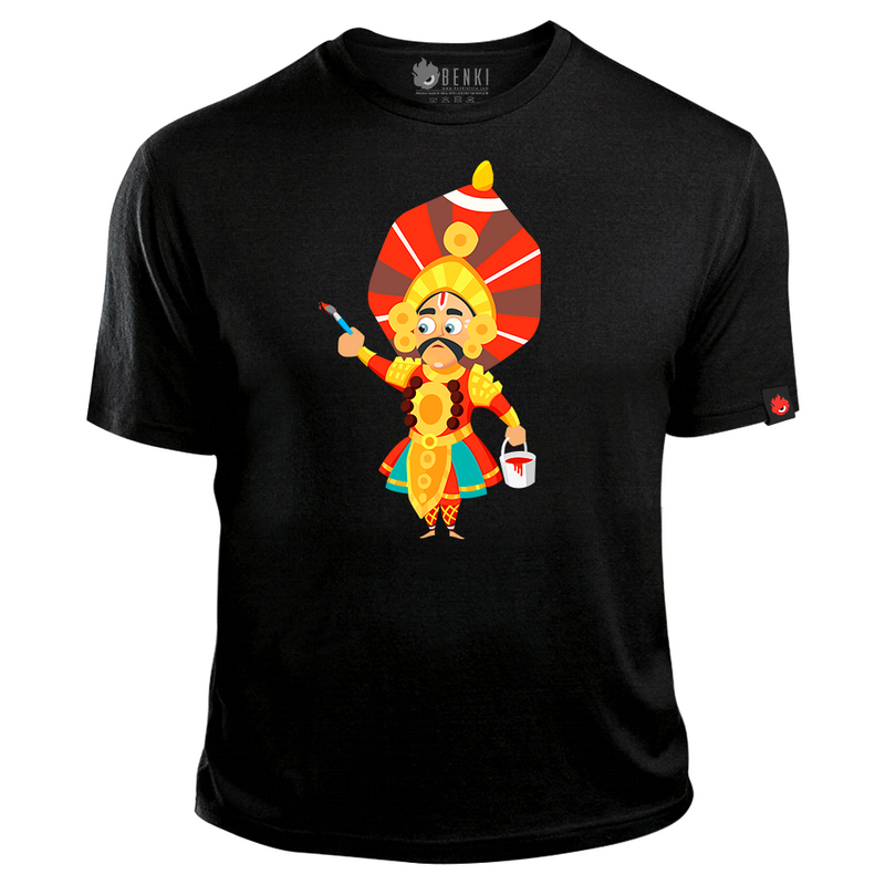 Paint the world T-shirt | Yakshagana TShirt | Yaksha Series - Benki Store