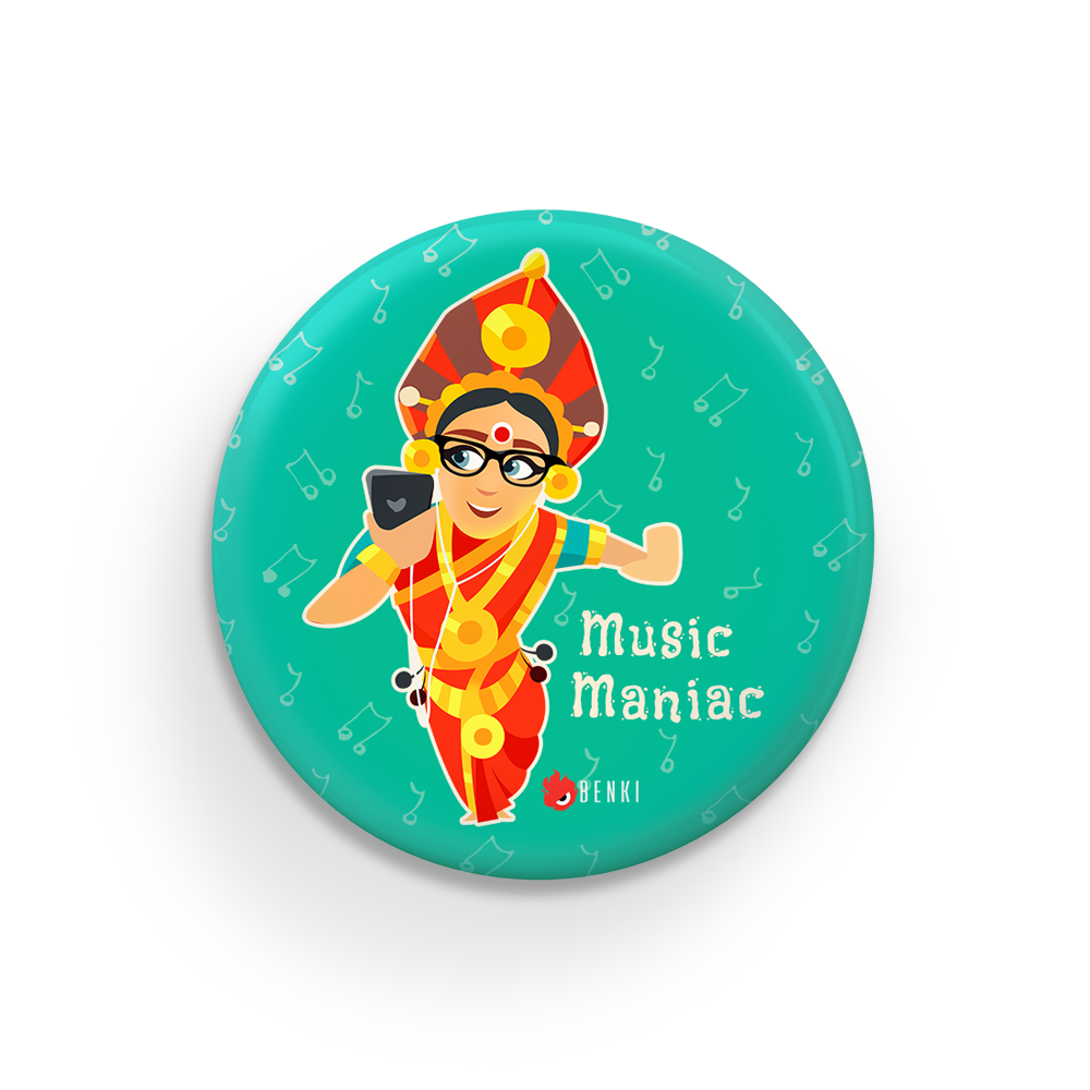Music Maniac Badge | Yaksha Series Badge - Benki Store