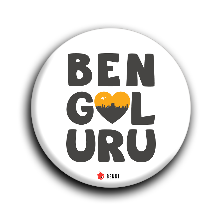 Love Bengaluru Badge | Romanchana Series Badge - Benki Store