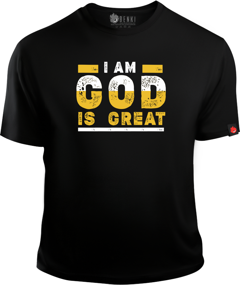I am God, God is Great TShirt | Uppi Style | Kannada TShirt