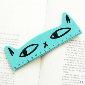 Fresh Candy Color Wooden Ruler