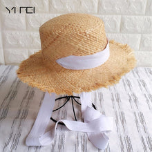 Load image into Gallery viewer, Handmade Weave Raffia Sun Hat