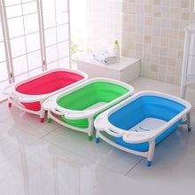 Load image into Gallery viewer, Baby  foldable baby bath tubs