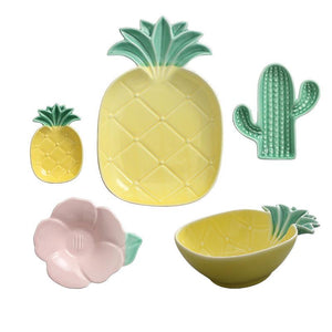 Tropical Style Ceramic Plate Bowl