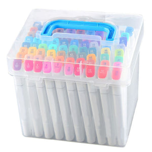 Plastic Carrying Marker Case Box