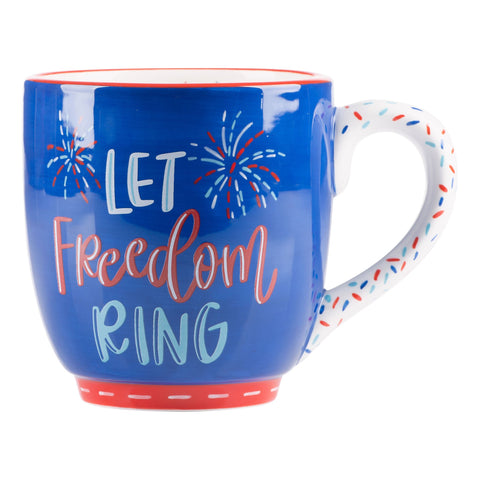 LET FREEDOM RING NAVY MUG