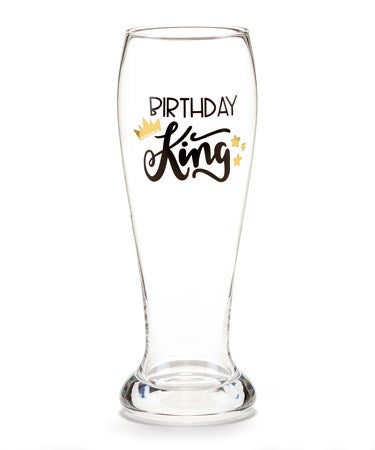 Birthday King Beer Glass