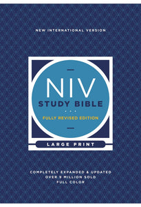 NIV STUDY BIBLE, FULLY REVISED EDITION, LARGE PRINT, HARDCOVER, RED LETTER, COMFORT PRINT