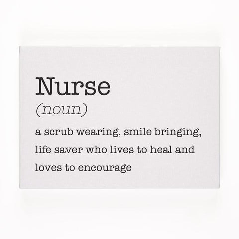 NURSE CANVAS BOX SIGN