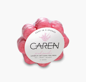 Caren Original Shower Sponge - Pink Powder