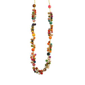 Aasha Handcrafted Wooden Small Chunky  Beaded Necklace