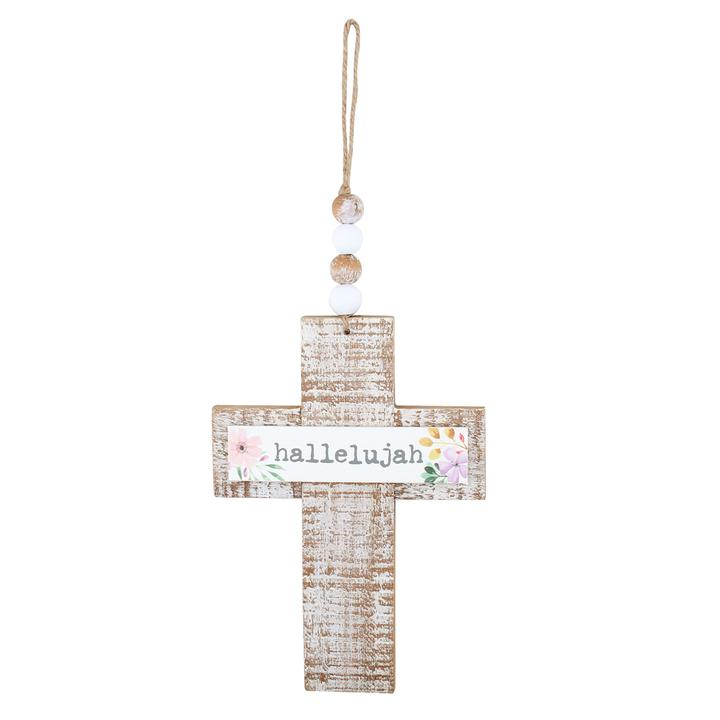 Hallelujah Wooden Cross