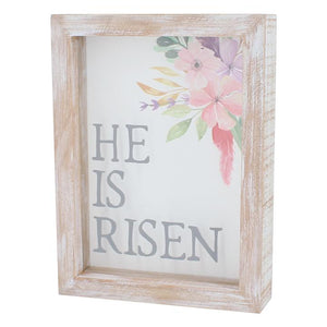 He is Risen Box Sign
