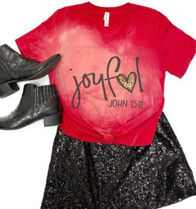 Joyful Heart Red Tee