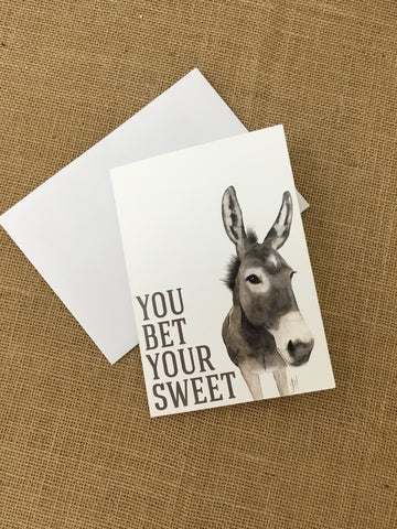 Bet Your Sweet Mule Card
