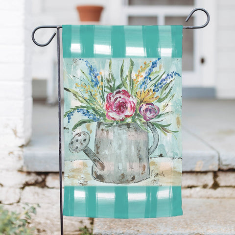 Watering Can Garden Flag