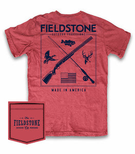 Fieldstone Crimson Hunting and Fishing T-shirt