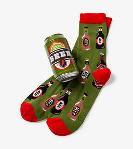 Beer Can Socks Assorted Varieties