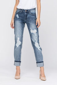 Destroyed Bleach Splatter Jeans