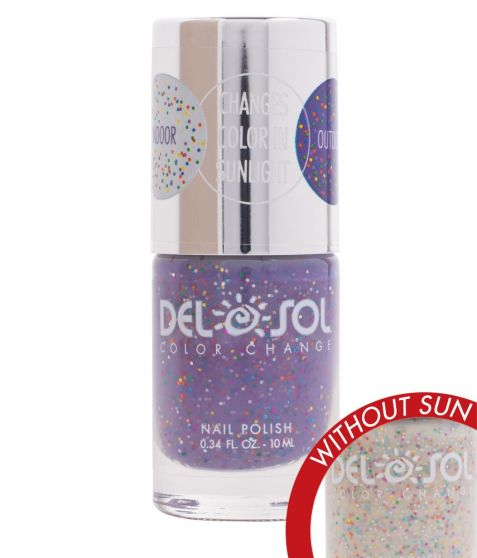 Del Sol Color Changing Nail Polish (Live Love Sparkle)
