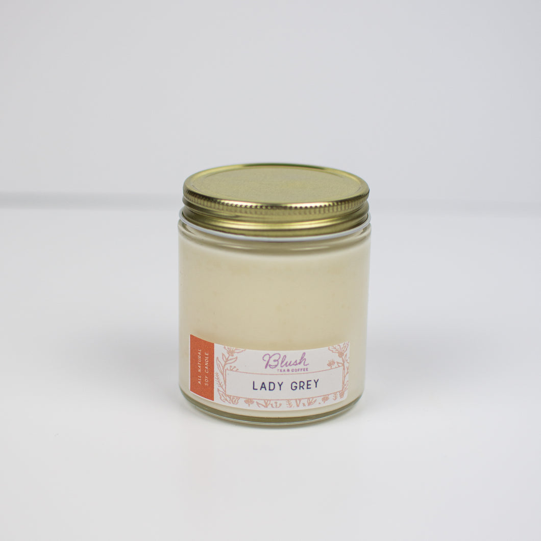 Lady Grey - Blush Scented Soy Candle - Infused Tea Company