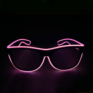 Smart Remote Control Neon LED Light Up Rave Glasses