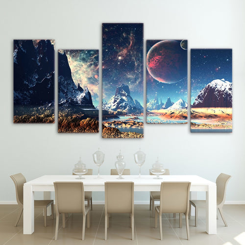Mountains and Space Art Set
