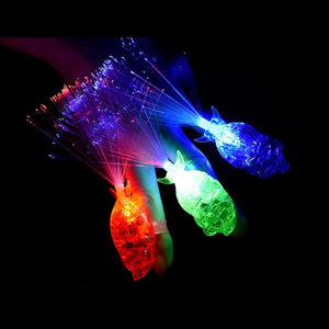 LED Flashing Fiber Light Glowing Beam Torch Rings