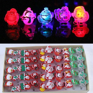 50 Piece Light Up Flashing Festival/Rave Rings