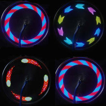 LED Wheel Lightup Spin Designs For Any Bike or Motorcycle!
