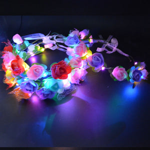 Flashing Flowers Rave Headband