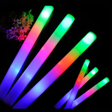 Multi Color Foam Stick LED Fluorescent Glow Stick Pack! (12Pcs)