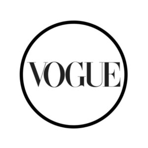 Round Vogue logo on transparent background.