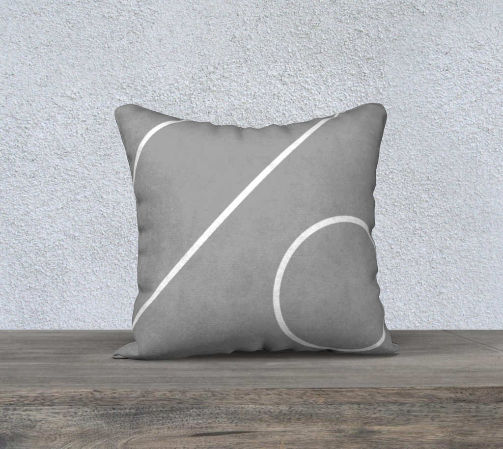 Mod Gray | Gray Stripe Home Accent Cushions Natural Cotton Linen